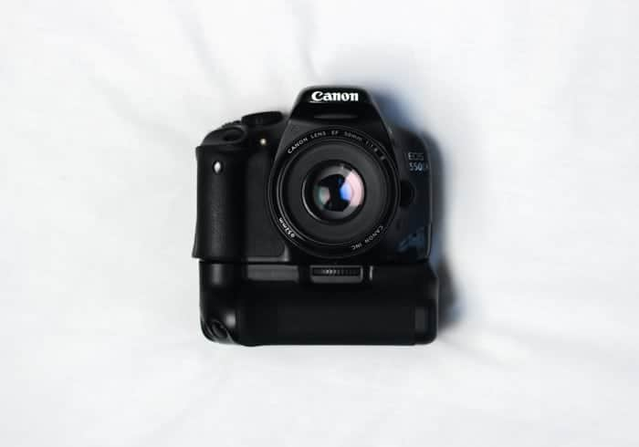 Camera on a white background.
