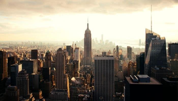 High-rise buildings.