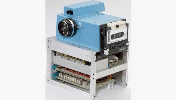 First digital camera by Kodak.