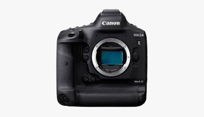 Canon DSLR without a lens.