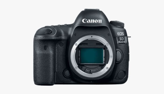 Canon DSLR camera without a lens.