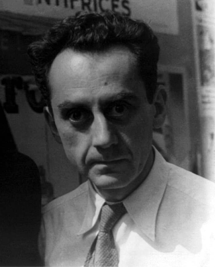 Grayscale portrait of Man Ray.