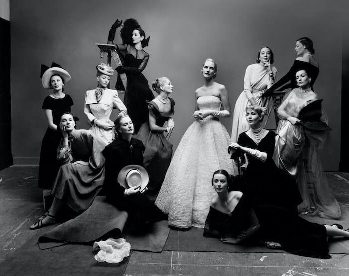 Grayscale of twelve models.