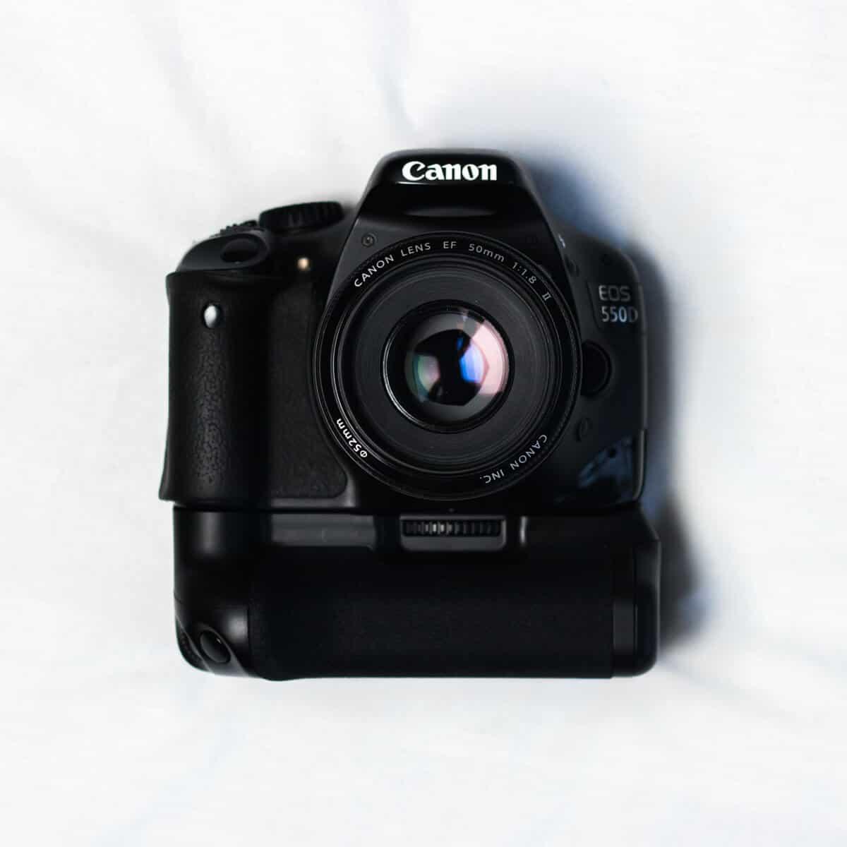 Black Canon digital camera.