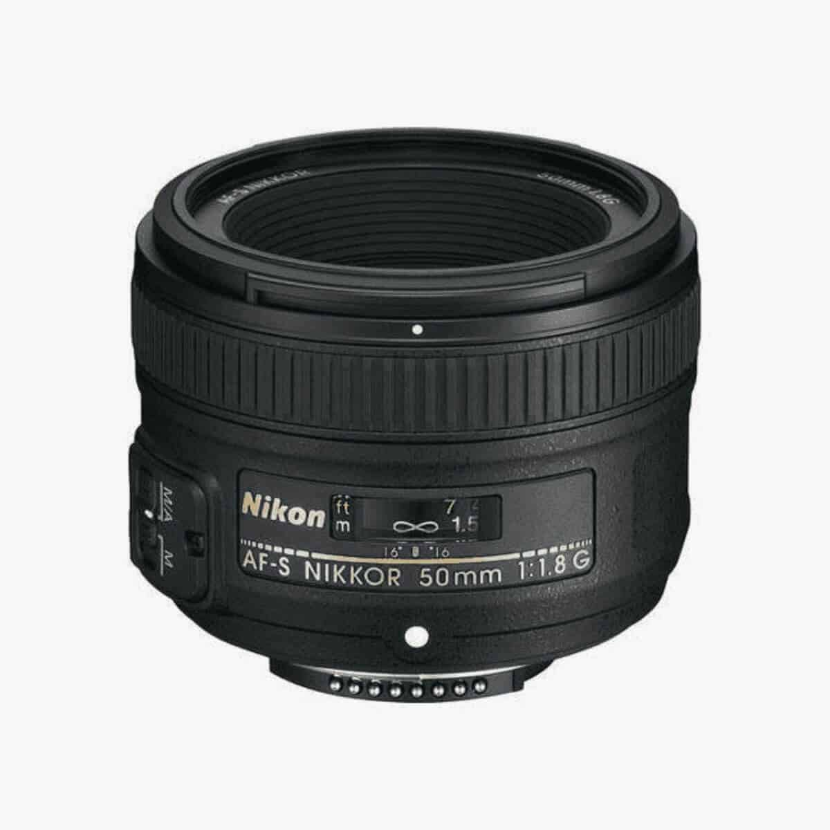 Nikon 50mm lens.