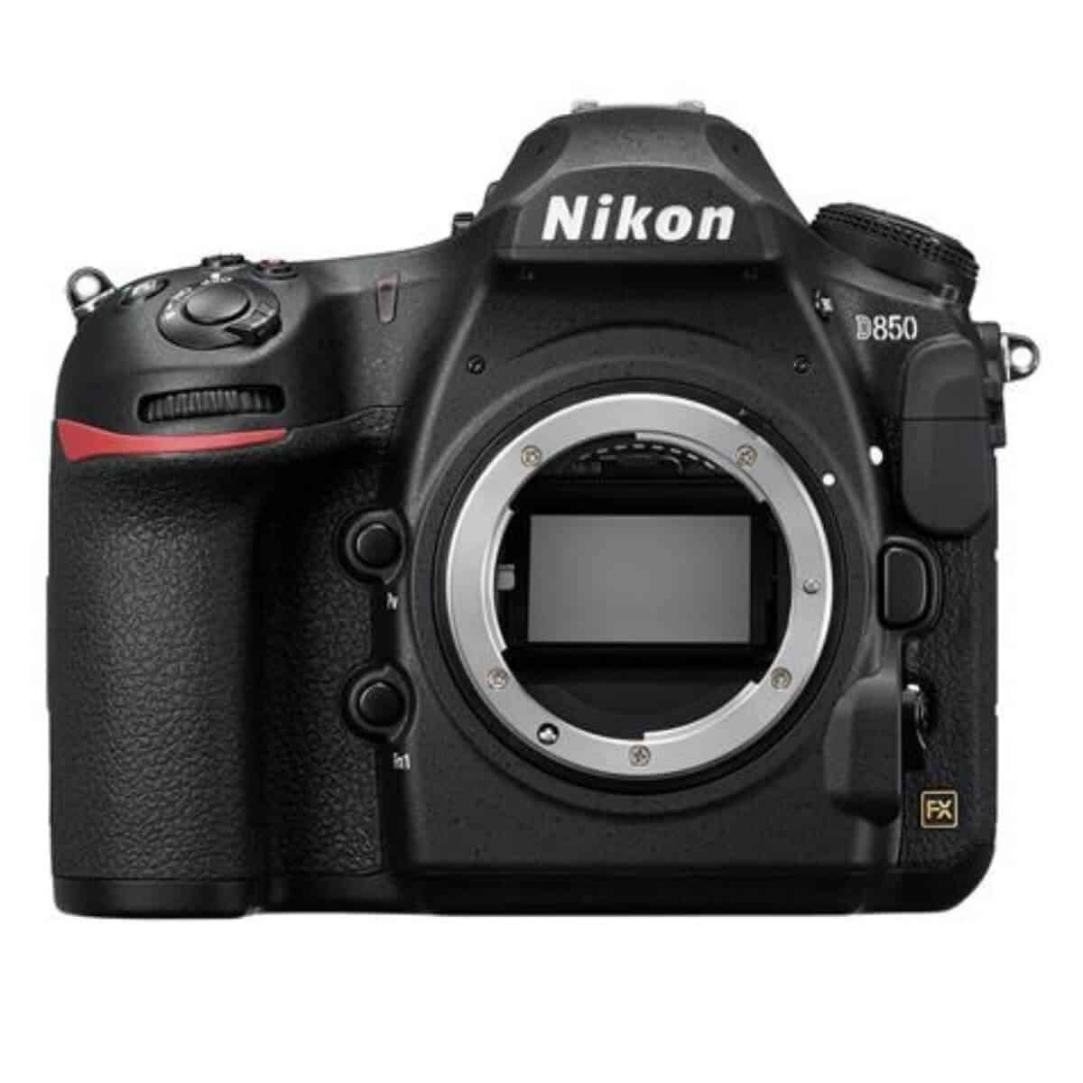 Nikon D850 camera without the lens.