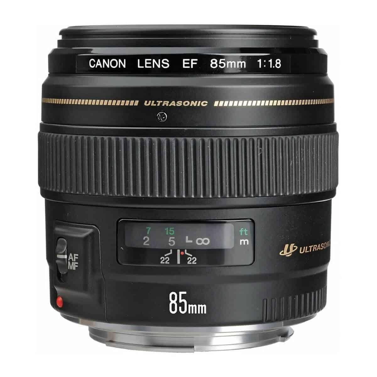 Canon 85mm f/1.8 lens.
