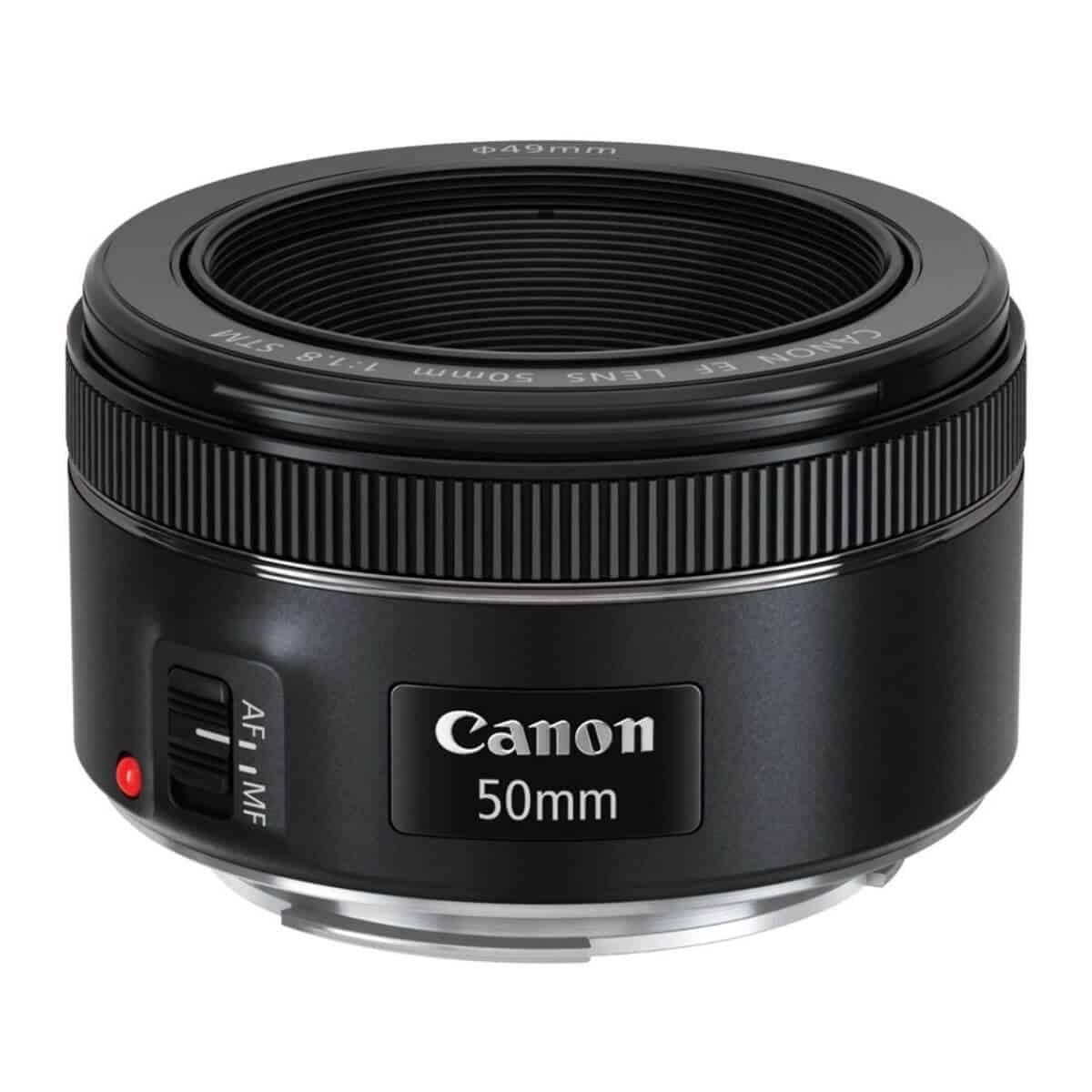 Canon 50mm f/1.8 camera lens.