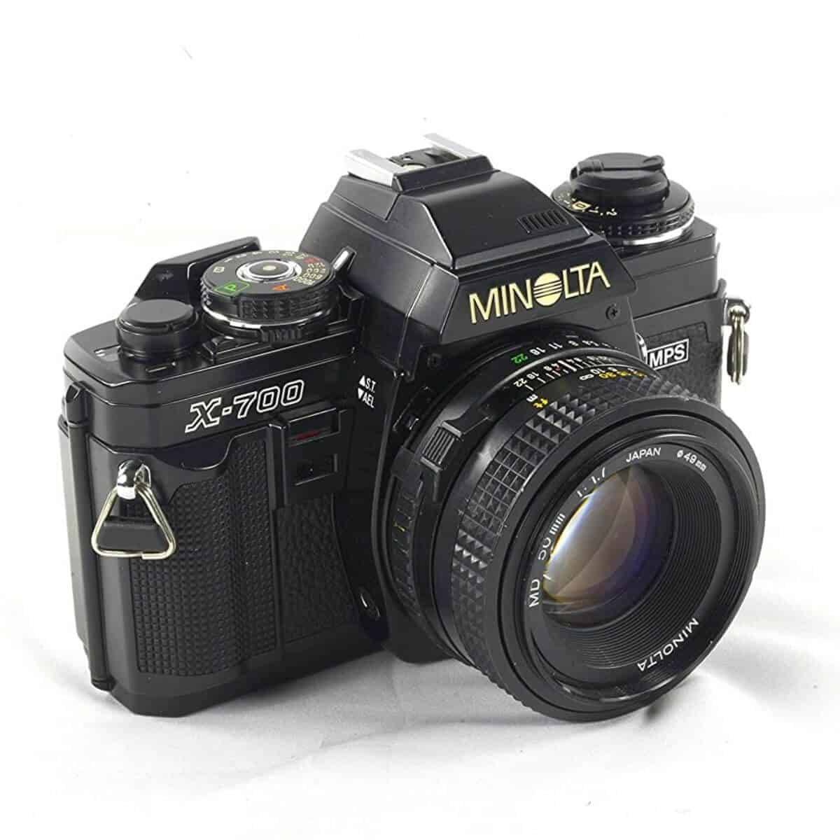 Minolta X-700 film camera.