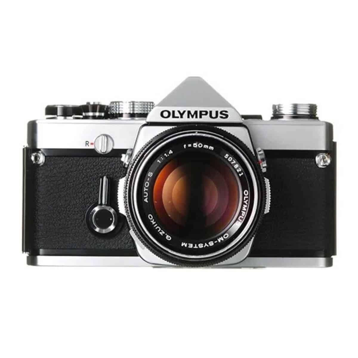 Olympus OM-1 35mm film camera.