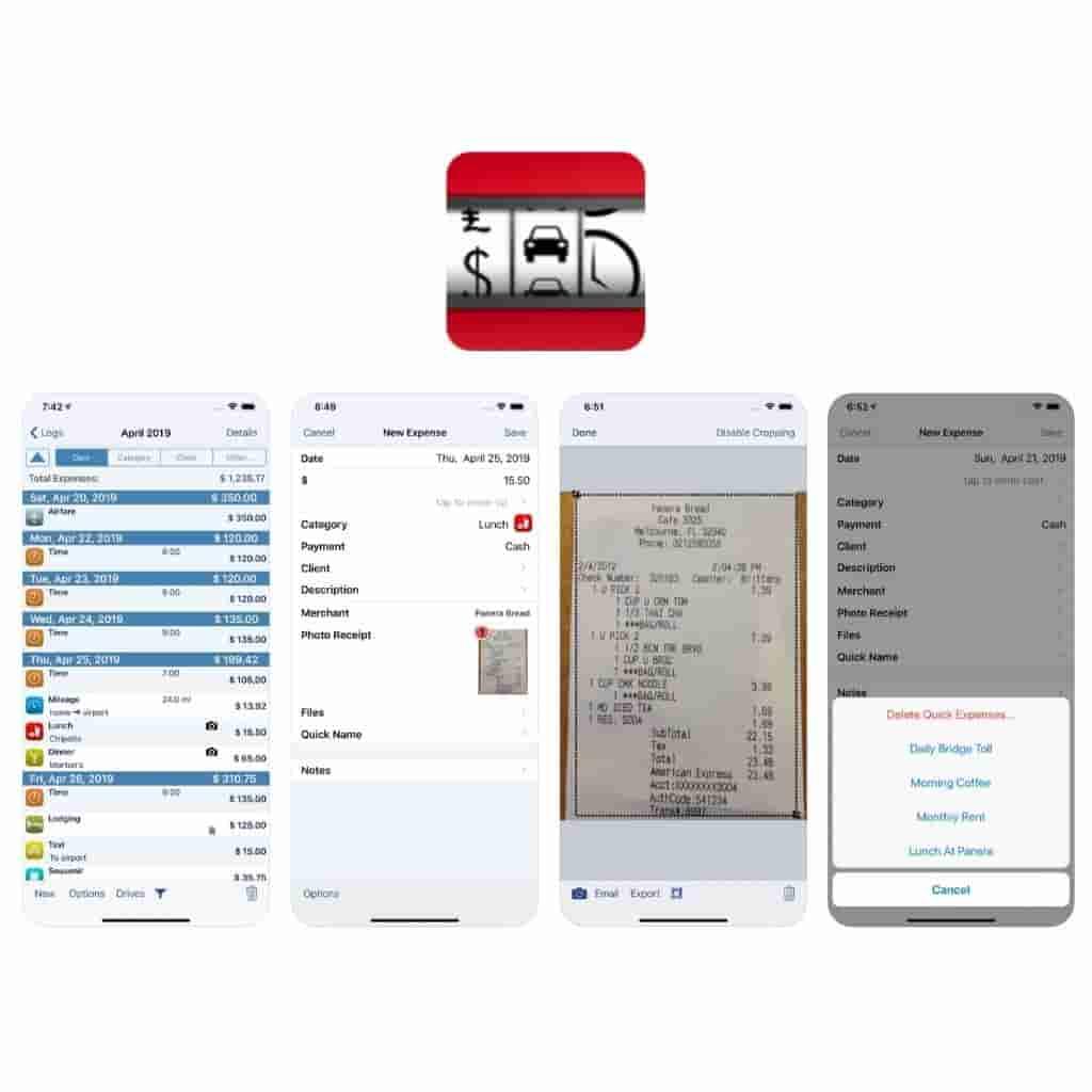 BizXpenseTracker app logo and screenshots of the it.