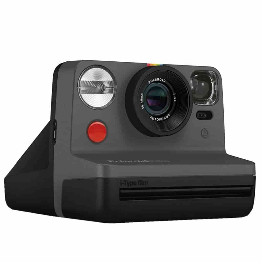 Black Polaroid Now camera.