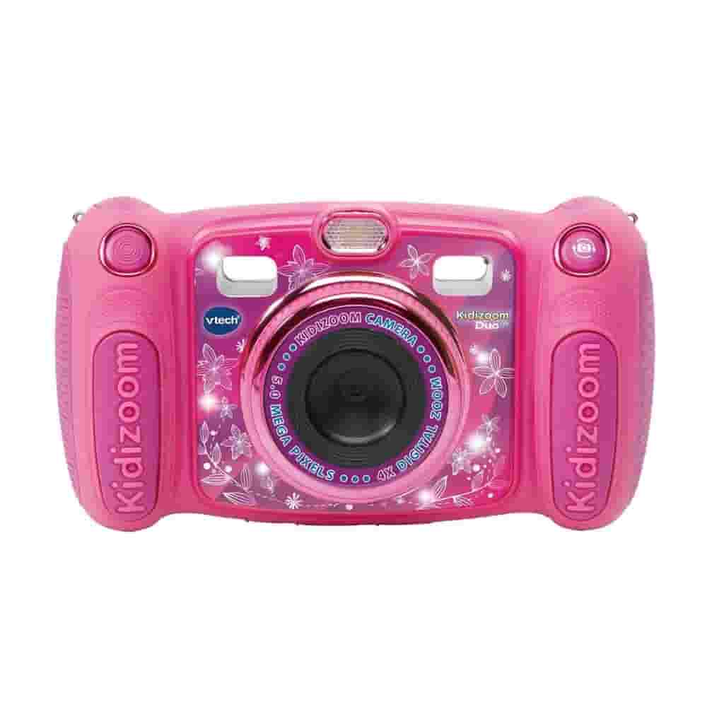 Pink VTech Kidizoom DUO 5.0 camera.