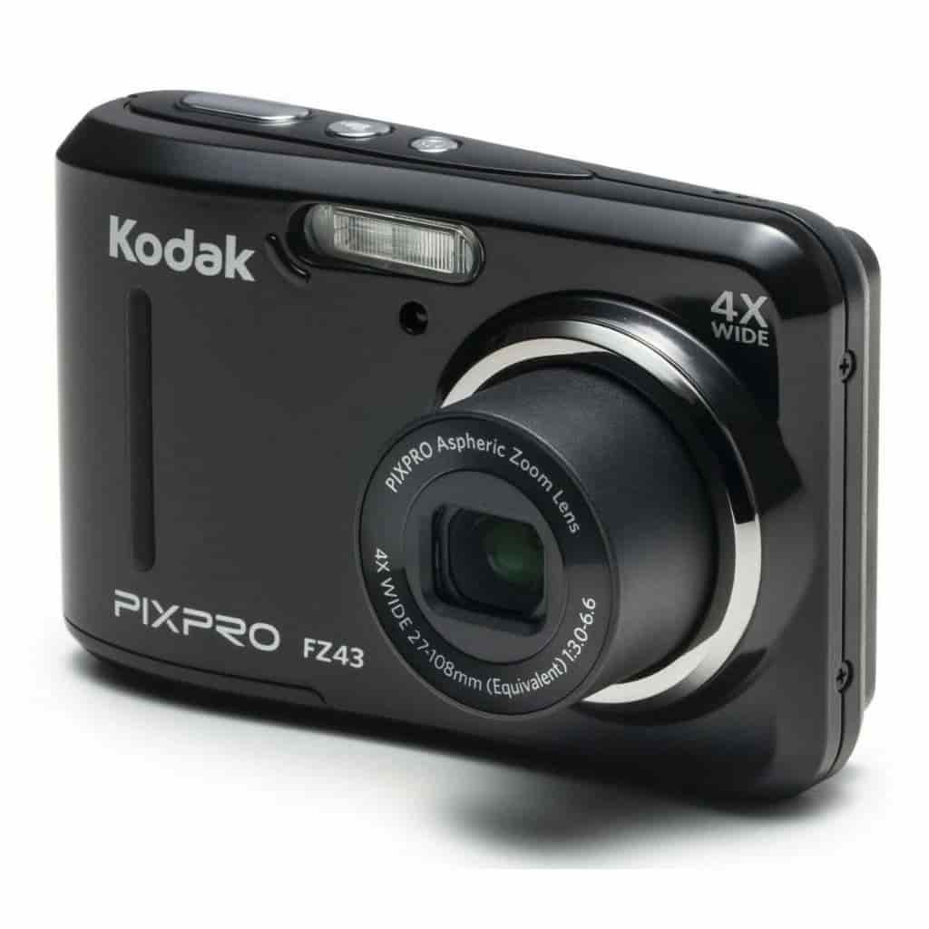 Black Kodak PIXPRO FZ43 camera.