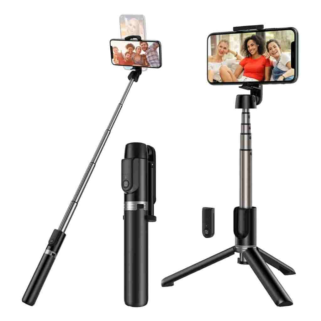 Yoozon selfie stick holding a phone.