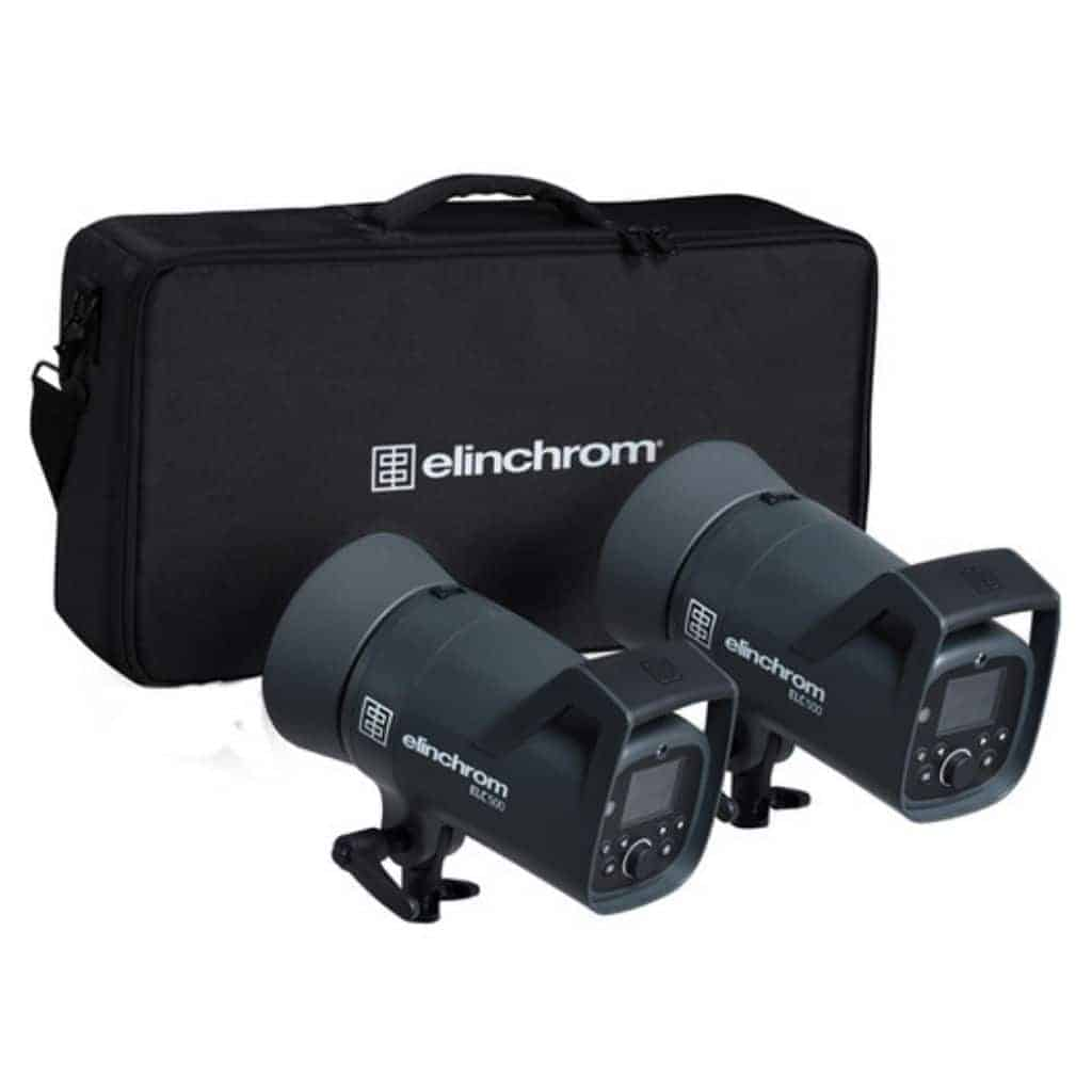 Two Elinchrom heads and a case.