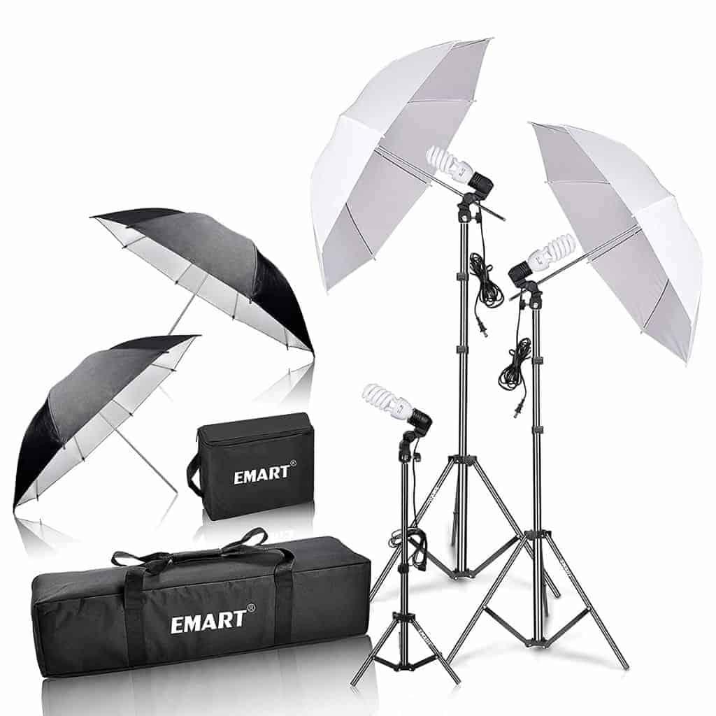 Emart photography lighting kit.