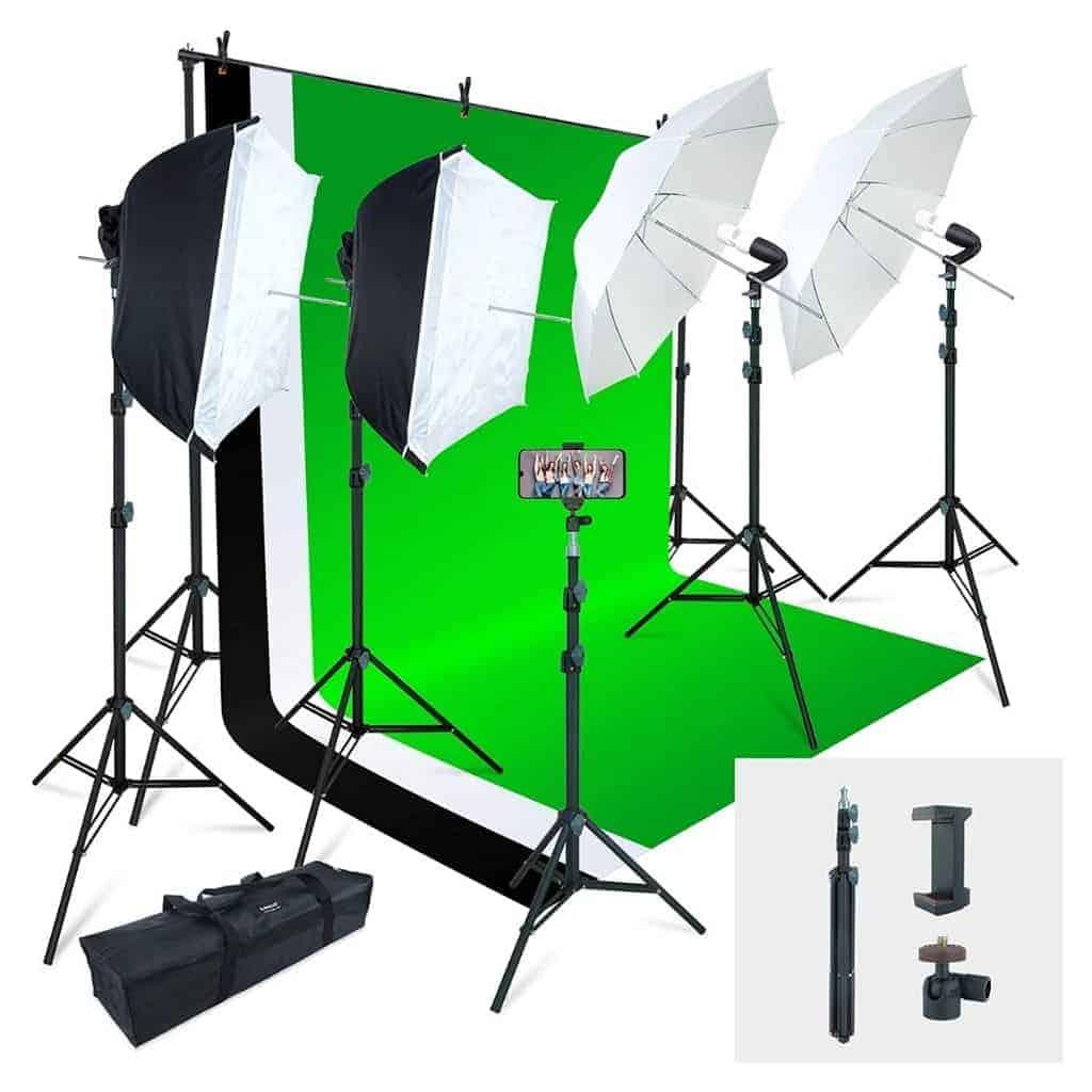 Linco lighting kit and backdrop.
