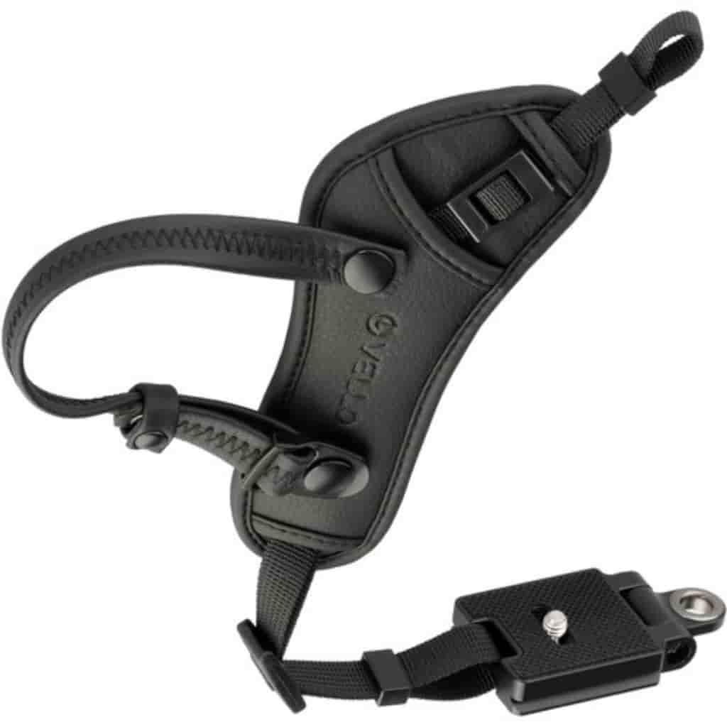 Hand grip strap for cameras.